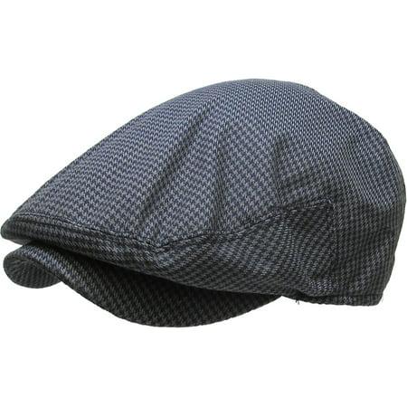 Plaid Print Cap (Plaid Cabbie Newsboy & Ascot Ivy Hat Cap Plaid Solid Gatsby Golf)