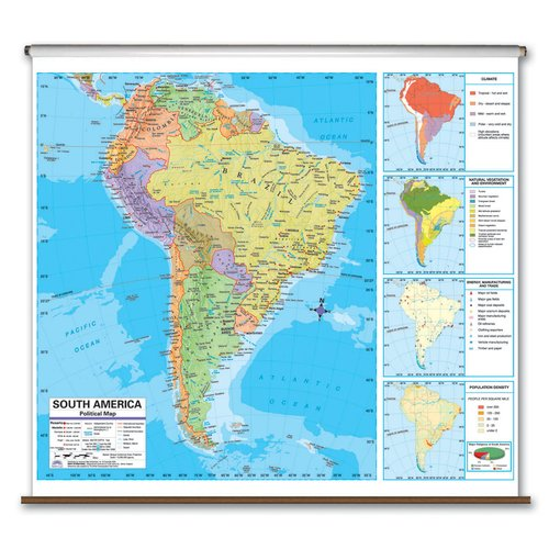 Universal Map Advanced Political Map South America Walmart Com