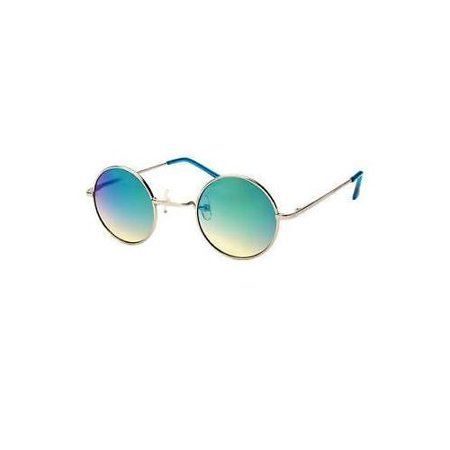 John Lennon Sunglasses Round Hippie Shades Mirror Lens Retro Gold Black Silver