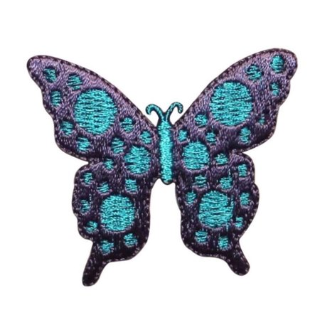 ID 2053 Spotted Butterfly Patch Fairy Wing Insect Embroidered Iron On (Embroidered Wings)