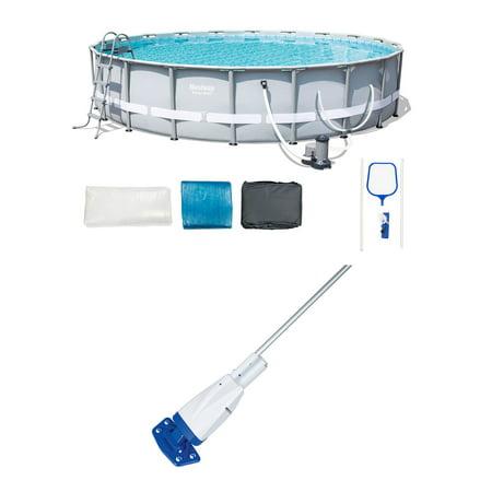 Bestway 20ftx 48in Steel Pro Metal Frame Swimming Pool Set & Aqua Pool (Best Way To Get Rust Off Metal)