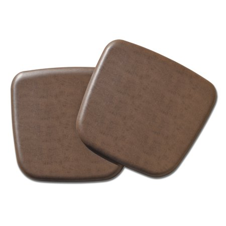 GelPro Complete Comfort Kitchen & Office Seat Cushion Vintage Leather Brown - Set of 2