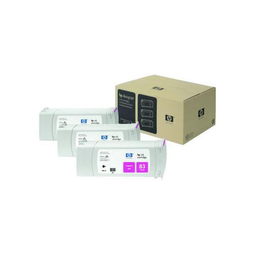 3PK #83 MAGENTA UV INK CART 680ML F/DESIGNJET 5000/5500 UV SER