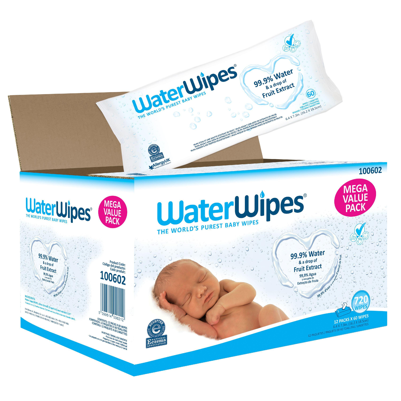 12 packs x 60 wipes WaterWipes Baby Wipes Sensitive Skin BRAND NEW 720 wipes
