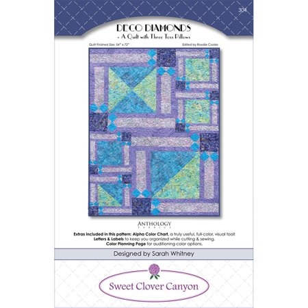 Deco Diamonds Quilt Pattern by Sweet Clover - Free Glass Deco Patterns