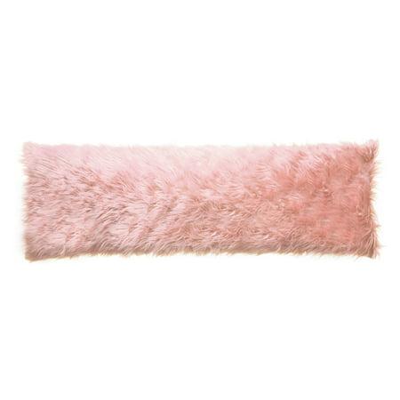 North End D 233 Cor Faux Fur Body Pillow Mongolian Pink 20 Quot X