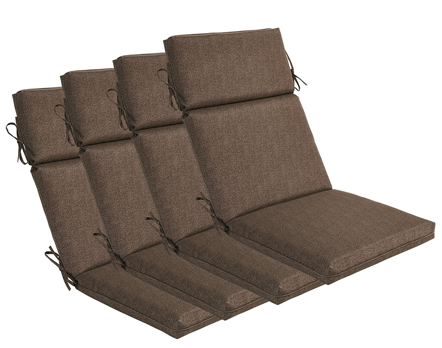 Lovely Bossima Indoor/Outdoor Coffee High Back Chair Cushion, Set Of  4.Spring/Summer Seasonal Replacement Cushions.   Walmart.com