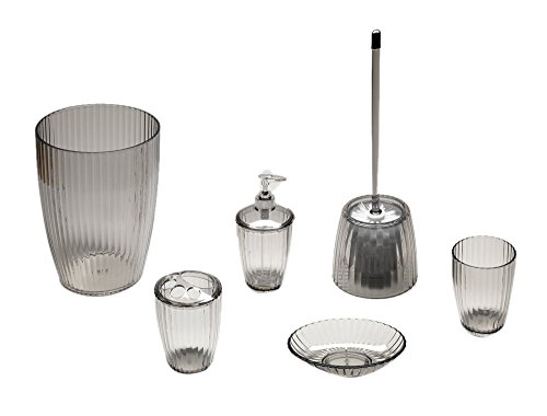 Park Avenue Deluxe Collection Park Avenue Deluxe Collection Black, Ribbed 5 Piece Acrylic... by