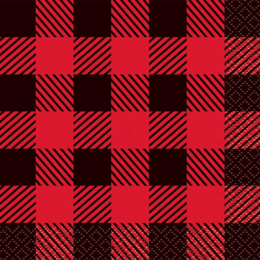 Buffalo Plaid Lumberjack Beverage Napkins, 16ct by Unique Industries