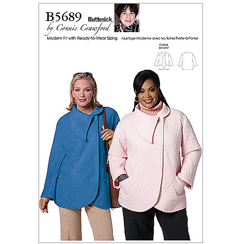 Butterick Pattern Misses' and Women's Jacket, Women (XXL, 1X, 2X, 3X, 4X, 5X, 6X)