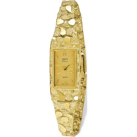 Rectangular Watches (10k Yellow Gold Champagne 15x31mm Dial Rectangular Face Nugget)