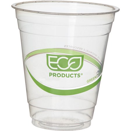 Eco-Products, ECOEPCC12GSPK, GreenStripe Cold Cups, 50 / Pack, Clear,Green, 12 fl oz 12 Oz Waxed Cold Cup