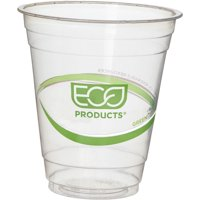 Eco-Products, ECOEPCC12GSPK, GreenStripe Cold Cups, 50 / Pack, Clear,Green, 12 fl oz
