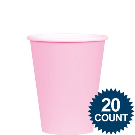 Pink 9oz. Paper Cups (20 Pack) - Party Supplies (Pink Party Cups)