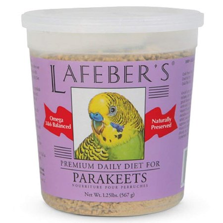 Lafeber's Premium Daily Diet Pellets for Parakeets 1.25 lb, Free of artificial food colors & dyes By (Top Organic Bird Pellets)