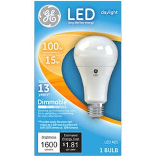 GE LED 15W (100W EQV.) DAYLIGHT DIMMABLE GENERAL PURPOSE BULB