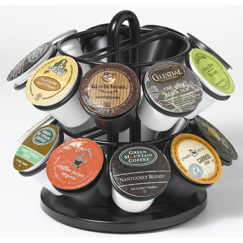 Nifty Home Products Mini Carousel for K Cups in Powder Coated Black