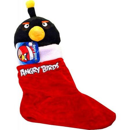 angry birds black bird christmas stocking - Christmas Angry Birds
