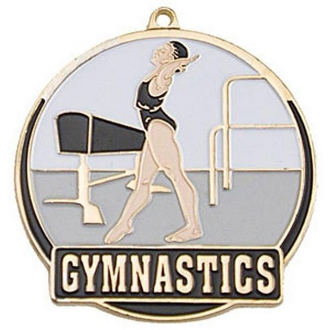 SIMBA HTM216G 2 in. Female High Tech Medallion Gymnastics, Gold - Pack of 25