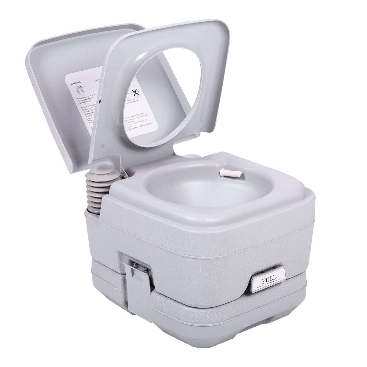 Zimtown 2.8 Gallons Portable Toilet, 10L Leak Proof Flushable Water Porta Potty/Potti with Detachable Tanks, for Travel, Camping, RV, Boating,Hiking & Other Outdoor or Indoor Activites