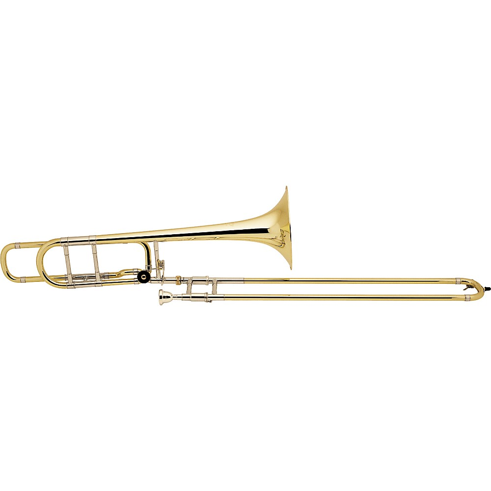 Bach 42BO Stradivarius Series F-Attachment Trombone Lacquer Gold Brass Bell Standard Slide by Bach