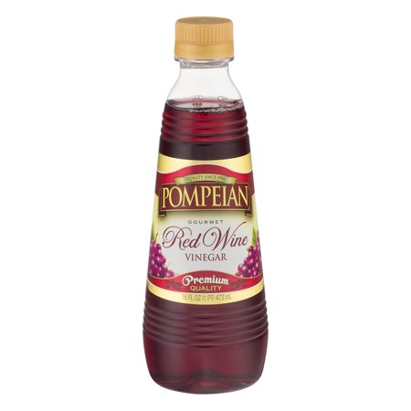 (6 Pack) Pompeian Gourmet Red Wine Vinegar Premium Quality, 16 fl - Balsamic Red Wine
