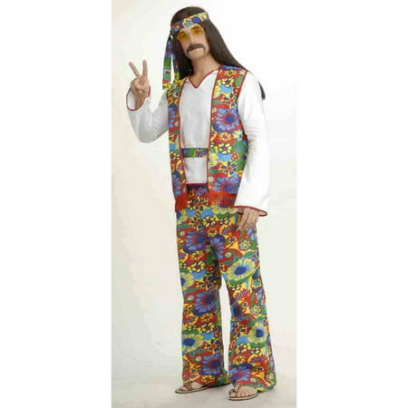 Hippie Man Adult Halloween Costume - Last Minute Hippie Halloween Costume