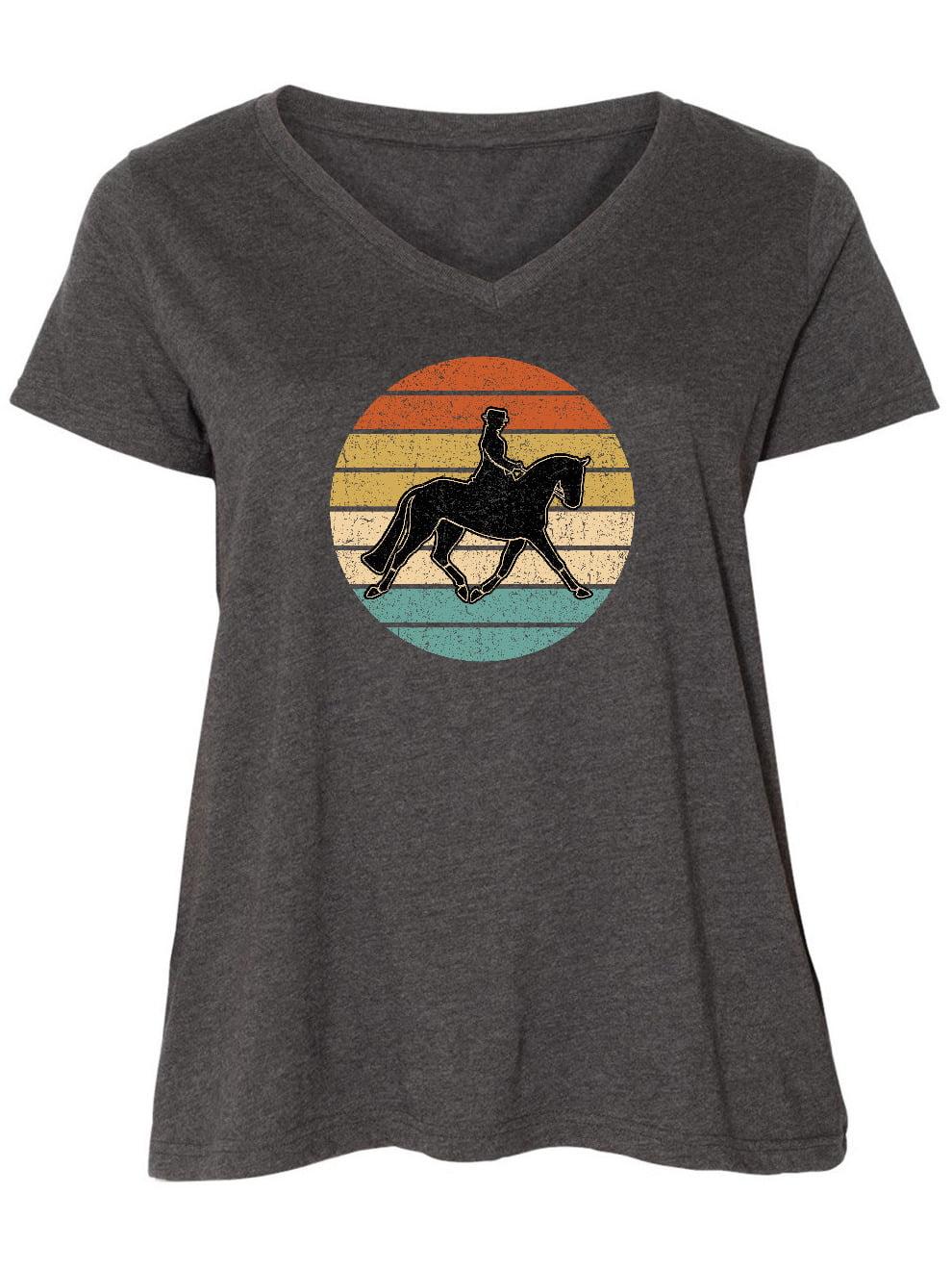 Inktastic Dressage Riding Equestrian Horse Women S Plus Size V Neck Walmart Com Walmart Com