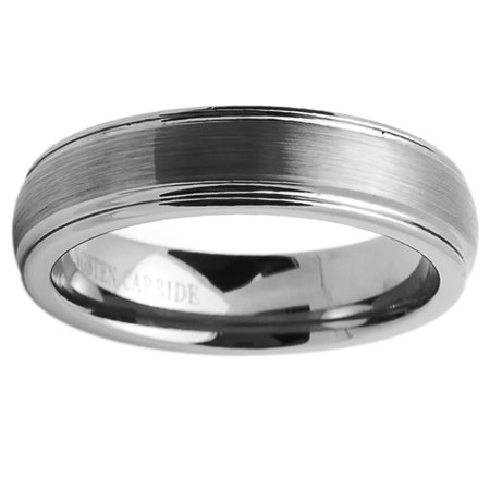 Free Engraving Men Women Personalized Inside Engraving Tungsten Carbide Wedding Band Ring 6mm Brushed Dome 6 Mm Engraved Band