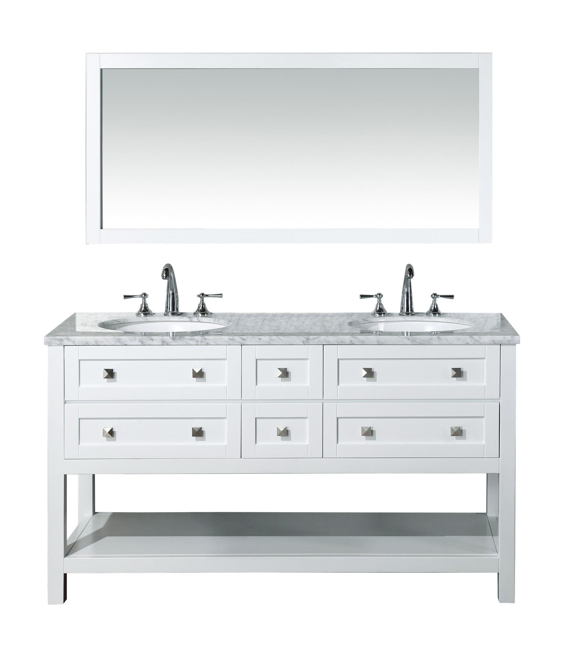 Stufurhome Marla 60 Inch Double Sink