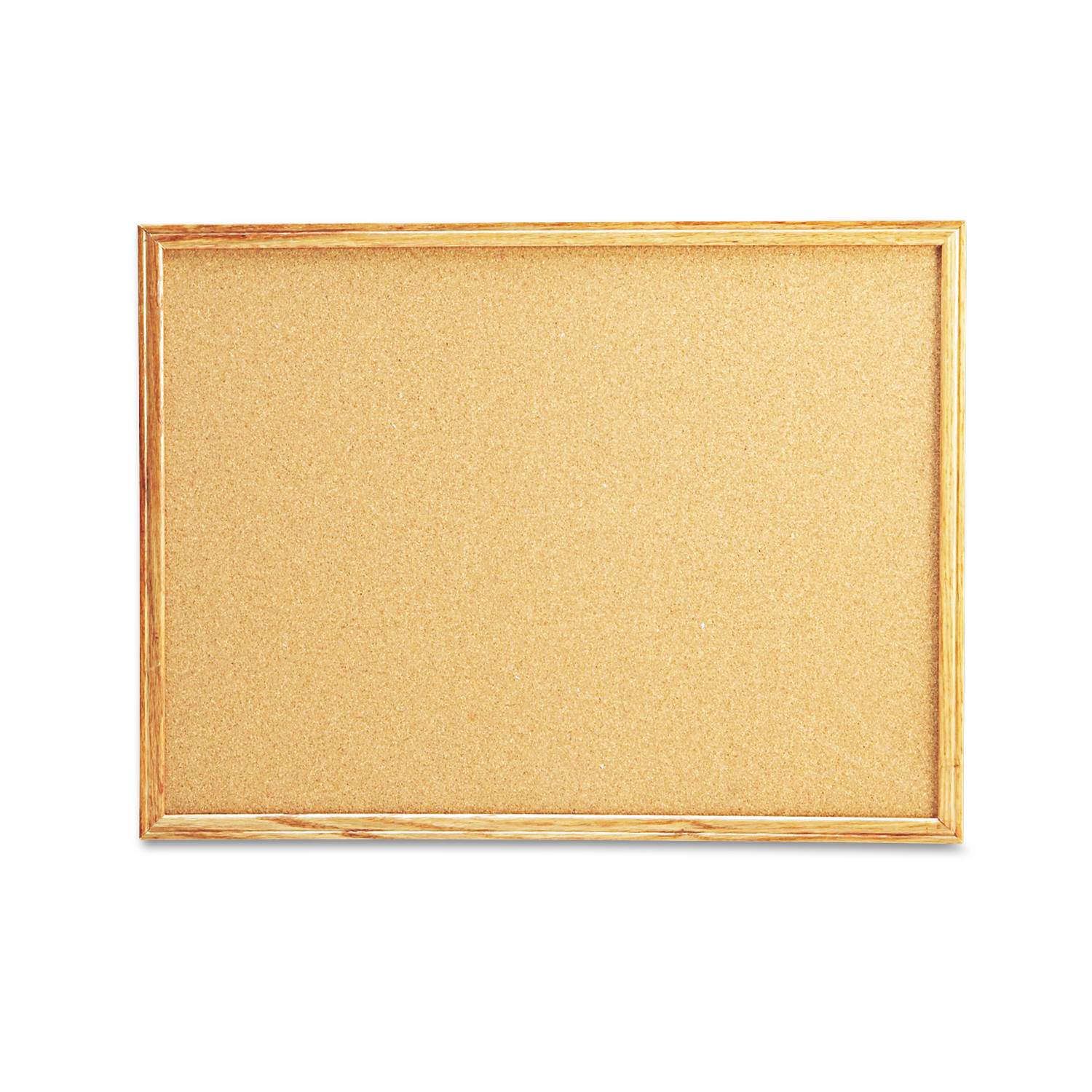 Universal Cork Board with Oak Style Frame, 24 x 18, Natural, Oak-Finished Frame