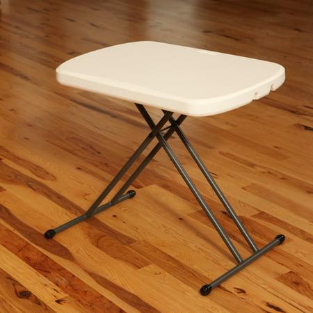 "Lifetime 26"" Personal Folding Table, White Granite, 80251"