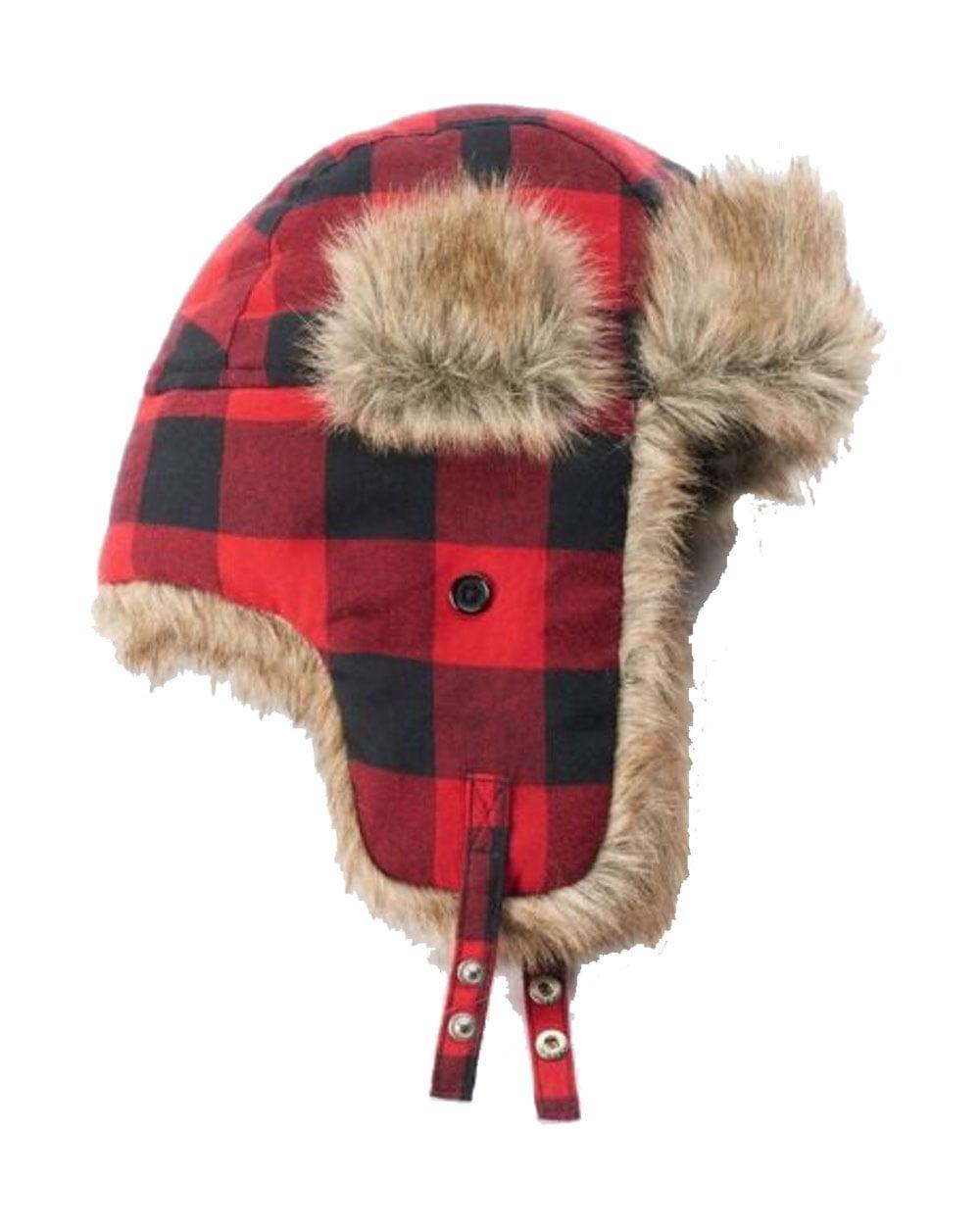 Urban Pipeline Men Plaid Buffalo Trapper Hat One Size