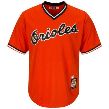 Cal Ripken Jr. Baltimore Orioles Cooperstown Cool Base Replica Orange Jersey by