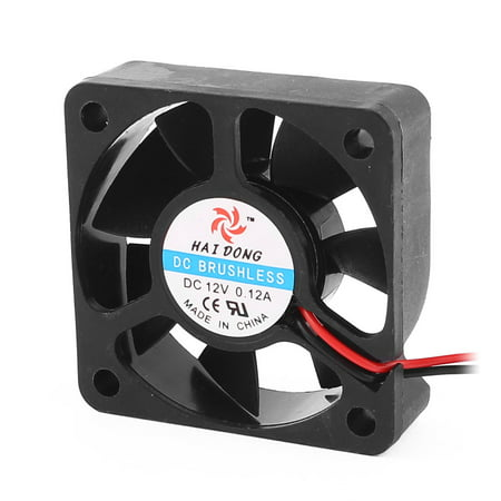 DC 12V 0.12A 50mmx50mmx15mm 7 Vanes PC CPU Computer Cooling Fan w Metal Mesh