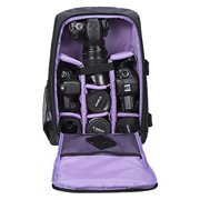 g-raphy camera backpack camera bag in purple for dslr slr cameras , laptops ,tripod and accessories