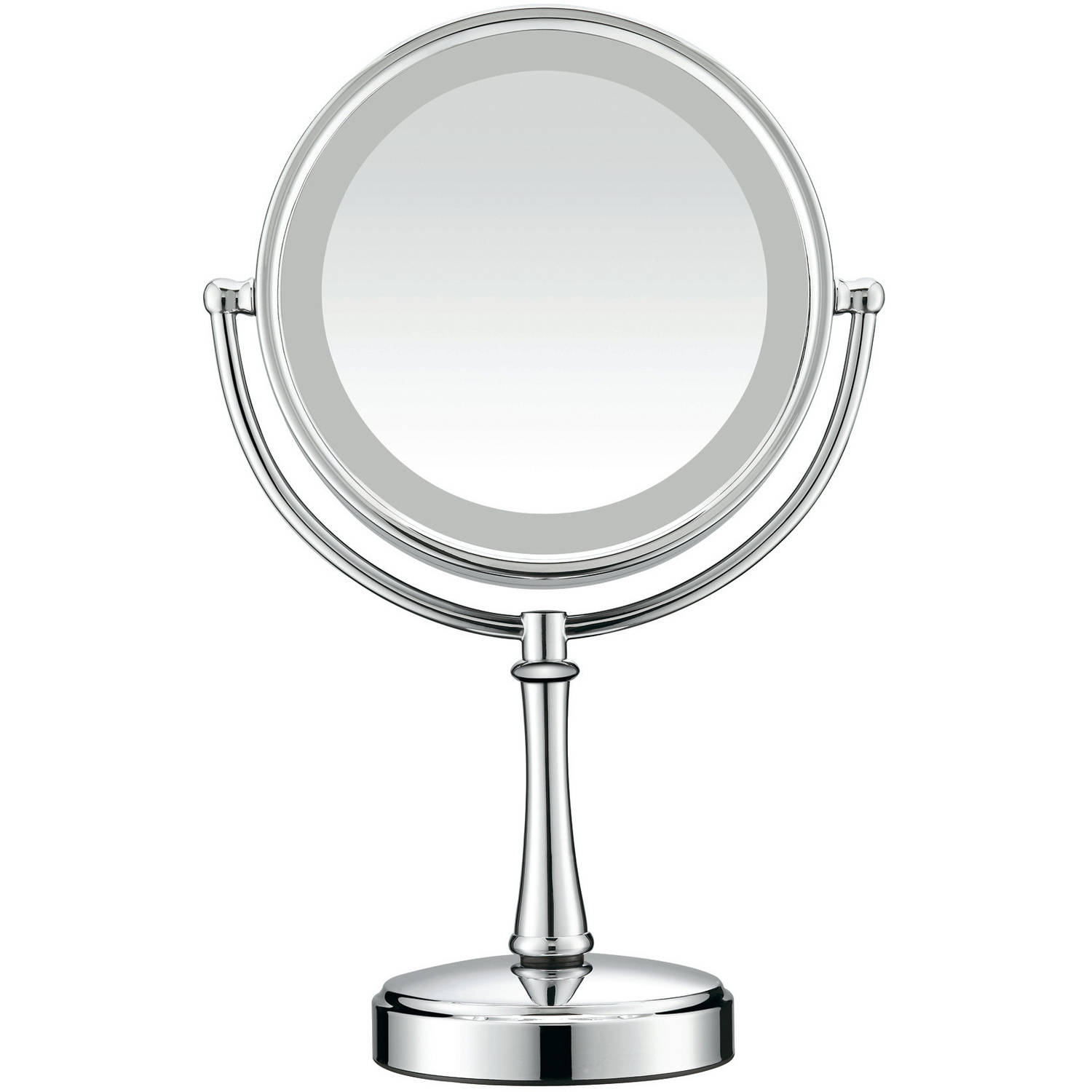 Conair Light Bulbs: Conair Touch Control Double-Sided Lighted Satin Nickel Mirror - Walmart.com,Lighting