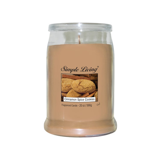 Simple Living Jar Candle, Cinnamon Spice Cookies