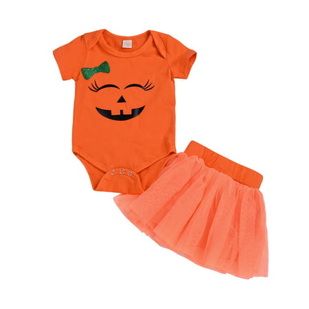 Halloween Dental Cartoons (Toddler Newborn Baby Girls Cartoon Romper Skirt Halloween hotsales Costume Outfits)
