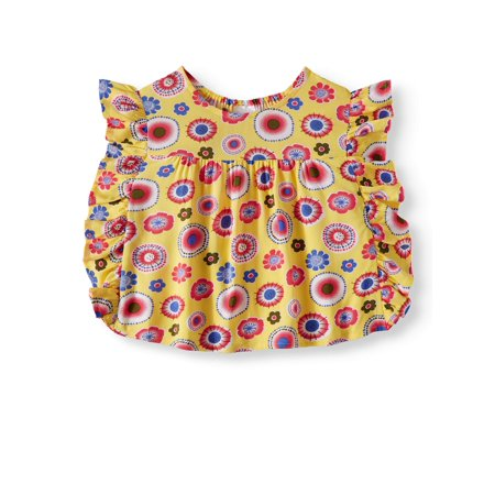 Flutter Sleeve Ruffle Top (Toddler Girls)