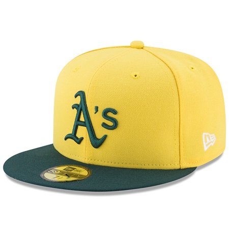 check out 2217c c9c03 Oakland Athletics New Era Youth 2017 Players Weekend 59FIFTY Fitted Hat -  Yellow - Walmart.com