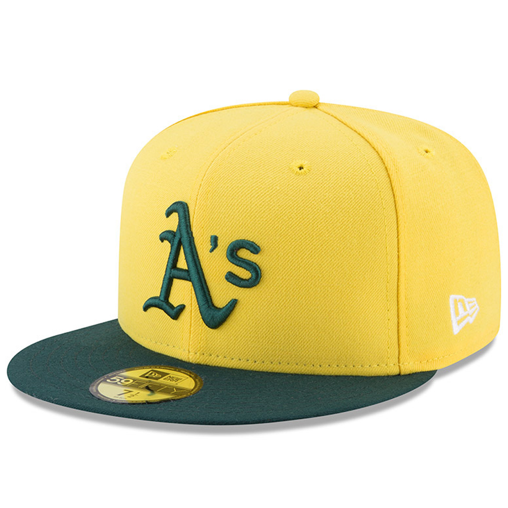 Oakland Athletics New Era Youth 2017 Players Weekend 59FIFTY Fitted Hat - Yellow