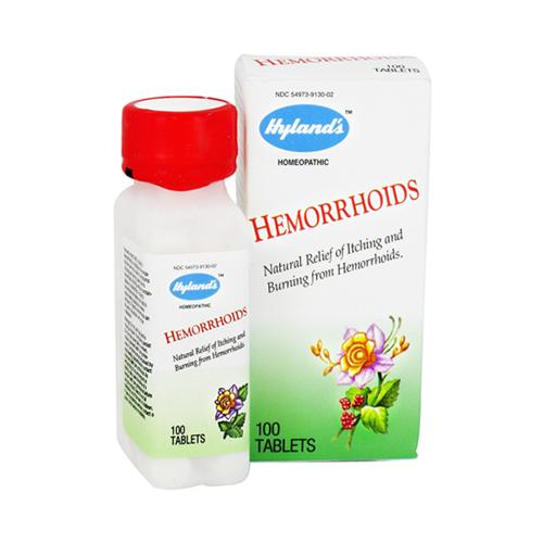 Hylands Hemorrhoids Tablets Relieves Itching And Burning Pains, 100 Ea