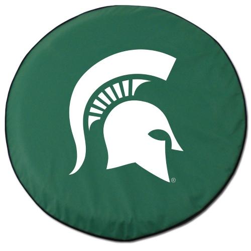 NCAA Tire Cover by Holland Bar Stool - MSU Spartans, Green - 30 L x 10 W