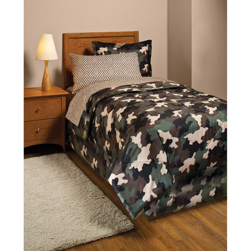Camouflage Bed in a Bag Bedding Set