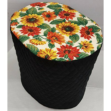 - Sunflowers Cover Compatible with Keurig Coffee Brewing Systems (Black, K10/K15/B31 Mini)
