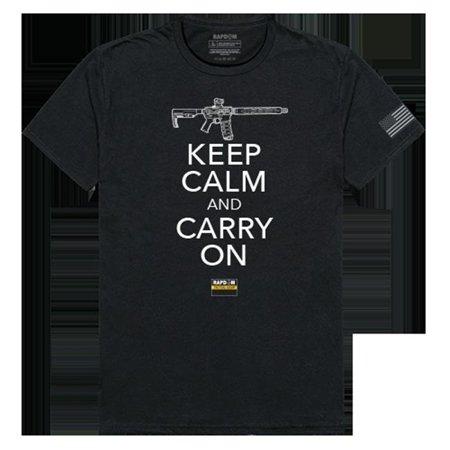 RapidDominance TS1-778-EQ4-02 Keep Calm & Carry On Tactical Graphics Tee, Black -