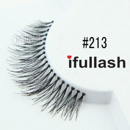 #213, 6 Pairs 100% Human Hair Eyelashes, 100% Natural Hair By ifullash