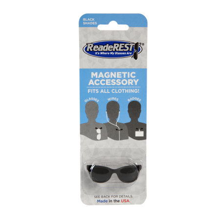 Black Shades Magnetic Eyeglass Holder, Sunglasses Holder | (Eyeglasses Shades)