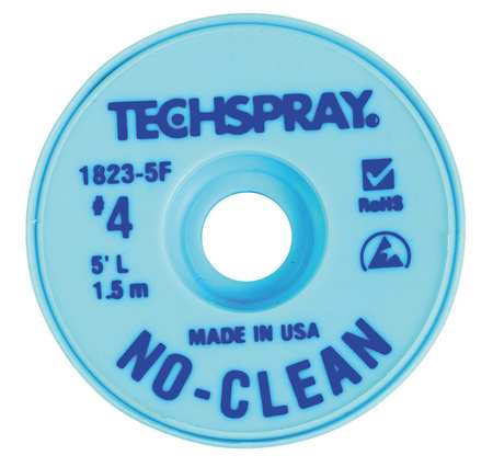 TECHSPRAY 1823-5F No-Clean Blue #4 Braid - AS